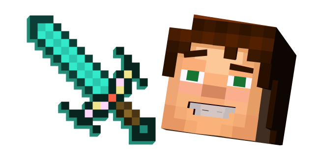 Minecraft Story Mode Jesse And Enchanted Diamond Sword Minecraft Playable Character Custom