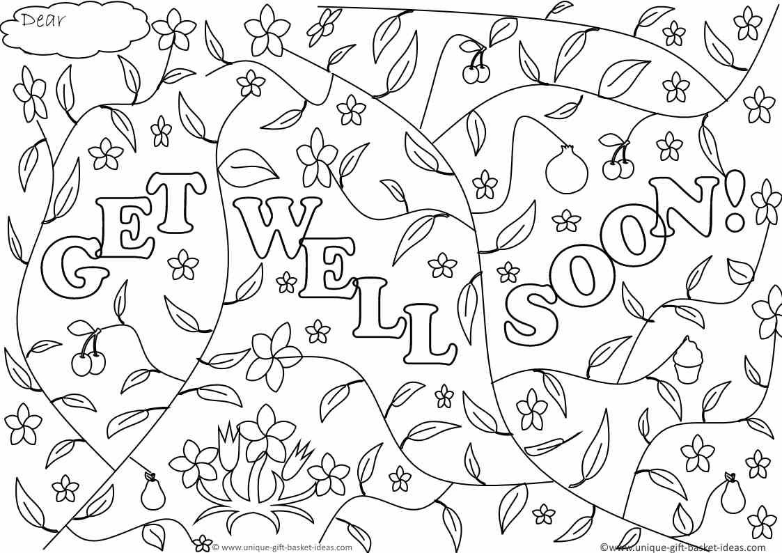 Get well soon adult coloring page quote coloring pages printable adult coloring pages get