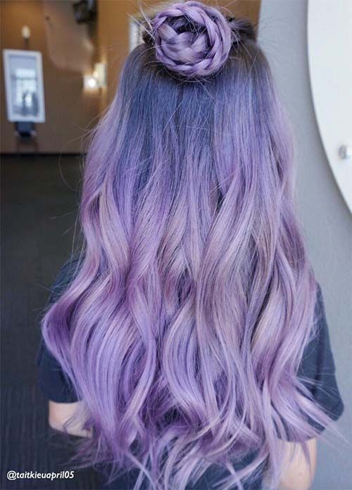 50 Lovely Purple & Lavender Hair Colors in Balayage and Ombre #haircolor