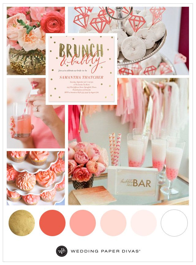 happy mondayheres a little something bubbly and fun to give you some bridal shower party ideas weve put together a bride blushing palette that will have
