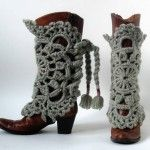 Cowboy Boot Covers in Crochet