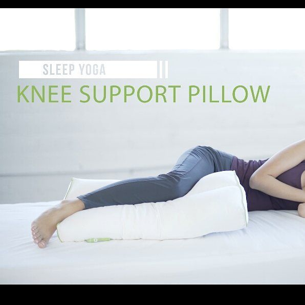 The New Addition To Our Exclusive Sleep Yoga Collection The Sleep Yoga Knee Pillow It Can Be Used In Multiple Positions For Sleep Yoga Knee Pillow Yoga