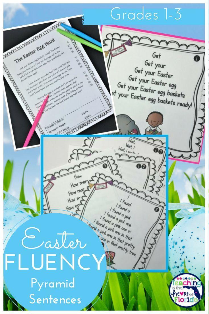Fluency Pyramids - Easter Themed | Pinterest | Silly sentences ...