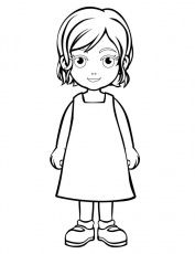 Outline Of A Person Coloring Page People Coloring Pages Little