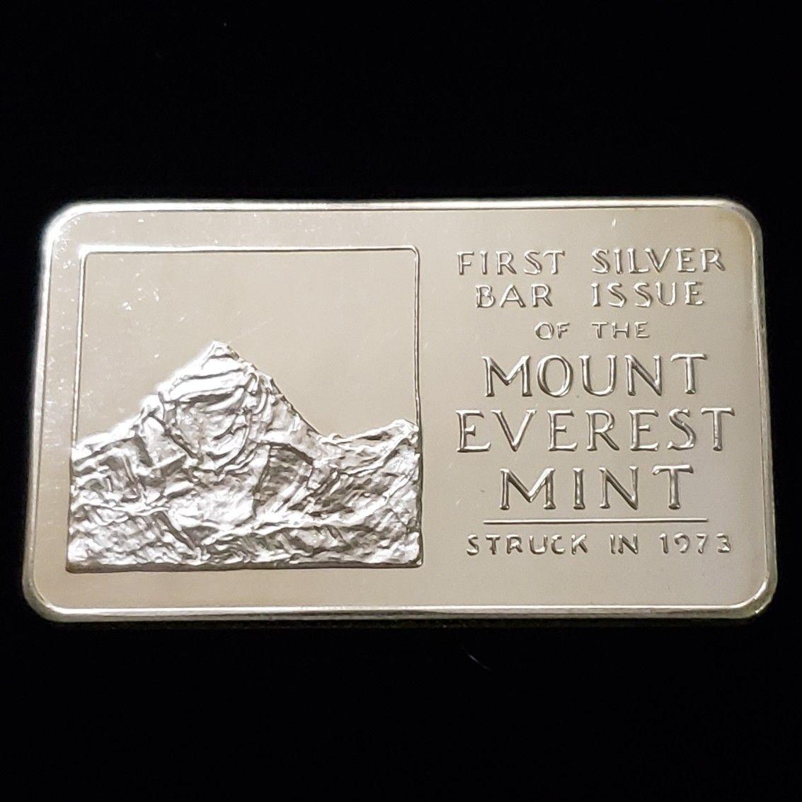 Mount Everest Silver Bar Silver Bars Fine Silver Silver Bullion