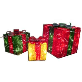 3 piece prismatic gift boxes lighted sculpture american sales 3d prismatic gift boxes lighted christmas sculpture outdoor christmas american sale mozeypictures Gallery