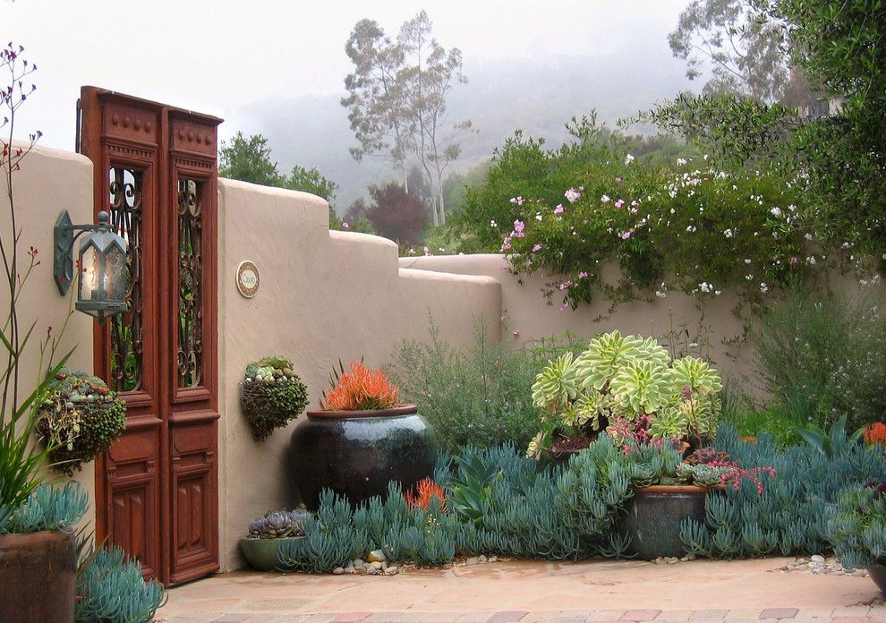 Mediterranean Courtyard Gardens Designs Garden Decorating Ideas For Elegant Landscape Design