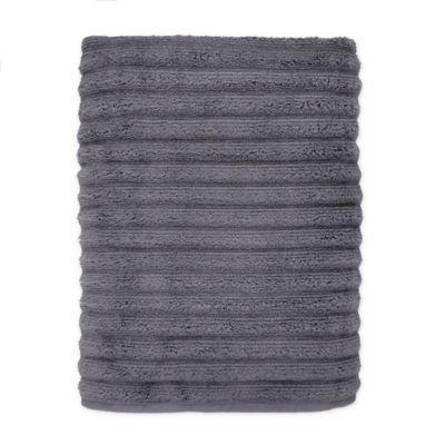 Turkish Ribbed Bath Sheet In Charcoal Bath Sheets Bath Luxury