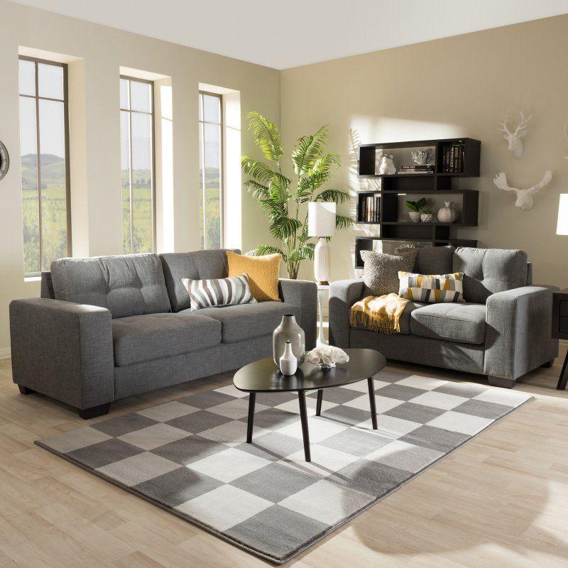 Best Baxton Studio Westerlund 2 Piece Sofa Set U23483 Wester 640 x 480