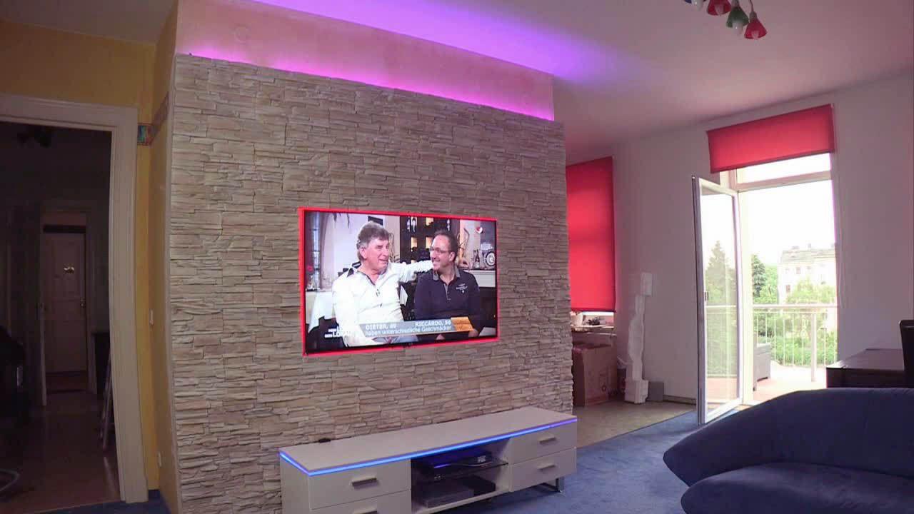 Abenteuer Leben Täglich Video Do It Yourself Tv Steinmauer 1 Kabeleins Natursteinwand Steinmauer Natursteinwand Wohnzimmer