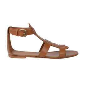 Romy - Nu-pieds en cuir, détail de boucle cheville