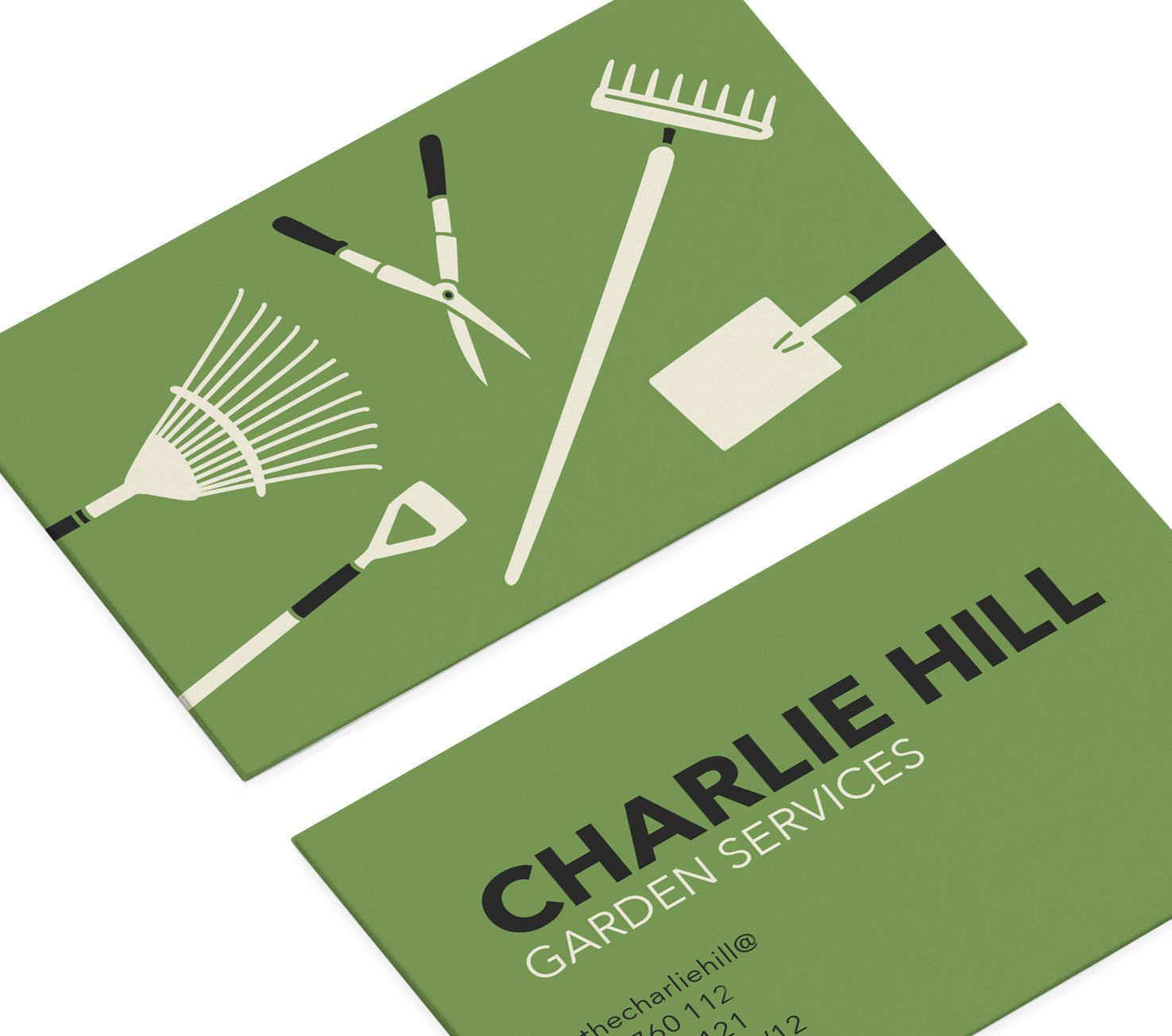 business cards for gardening business by small dots  smalldots co uk