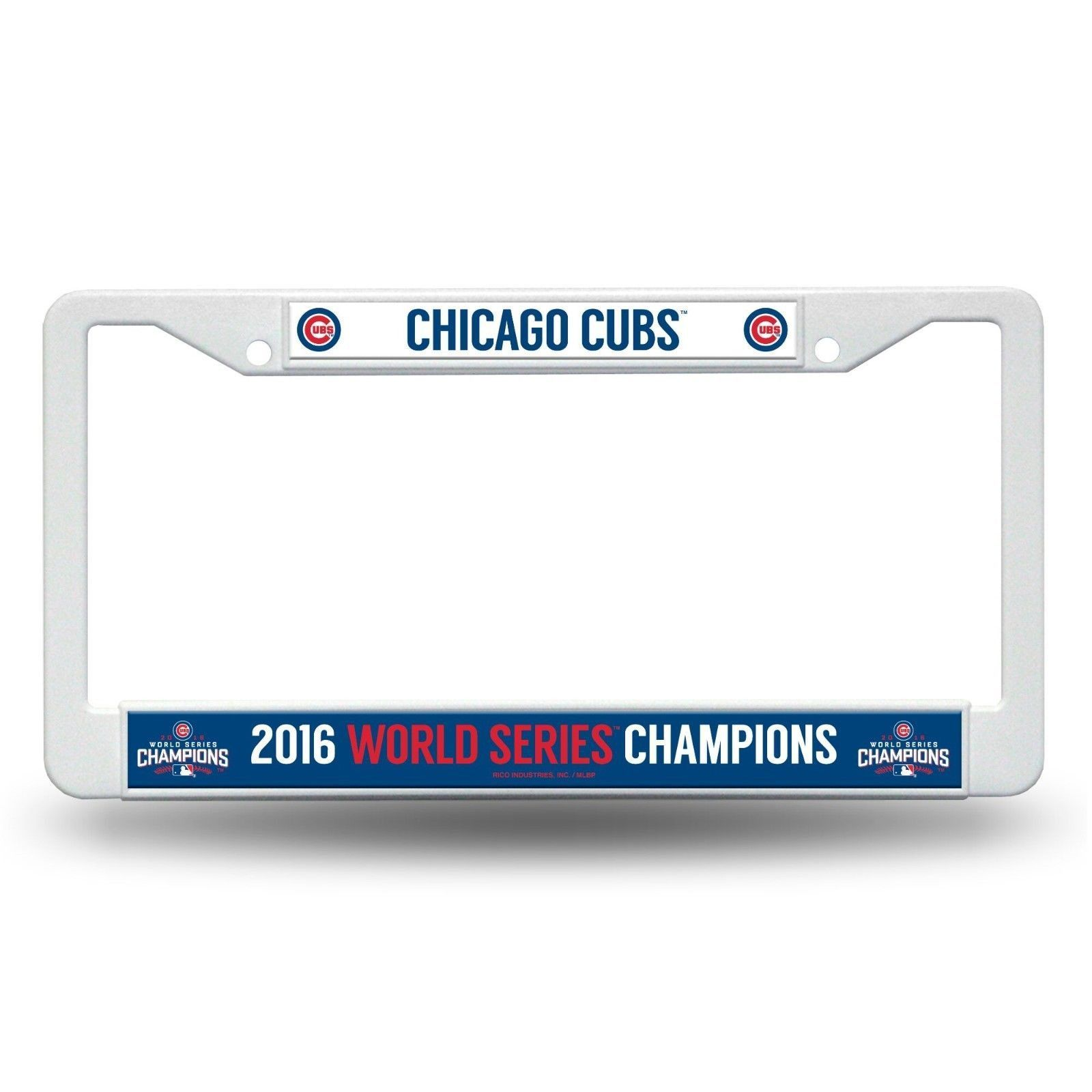 Chicago Cubs 2016 World Series Champions Metal License Plate Frame ...