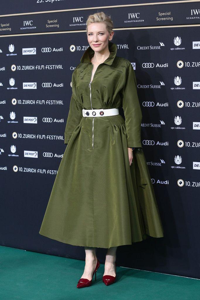 Cate Blanchett wearing Dior attends the 'Blue Jasmine' Green Carpet Arrivals during Day 3 of Zurich Film Festival 2014 on September 27, 2014 in Zurich, Switzerland.