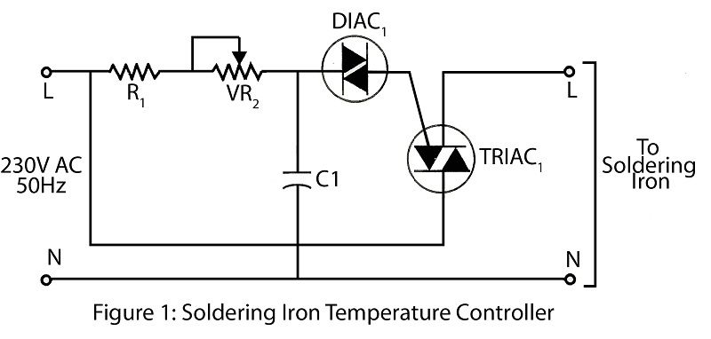 Here Is A Simple Soldering Iron Temperature Controller Circuit To Control The Temperature Of A Soldering Iron Mak Soldering Iron Soldering Temperature Control