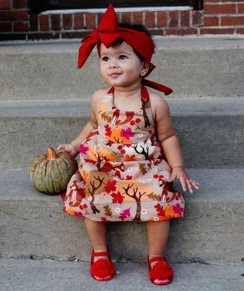 6ee9ea35f Baby Girl Thanksgiving Outfit