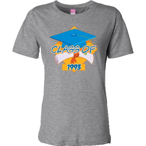 Graduation Class of 1993 Women's Fashion T-Shirts #classof1993 #graduation #GradGifts