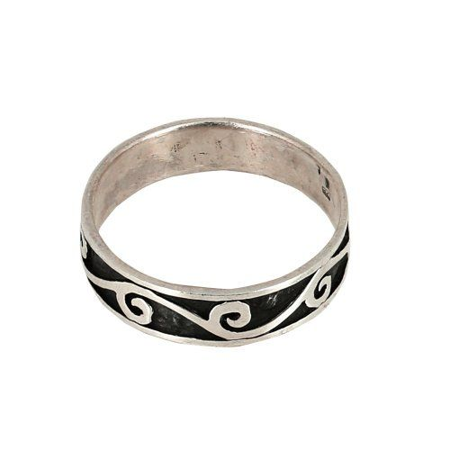 Band Rings for Men Sterling Silver Jewelry Traditional Indian Design: Jewelry: Amazon.com