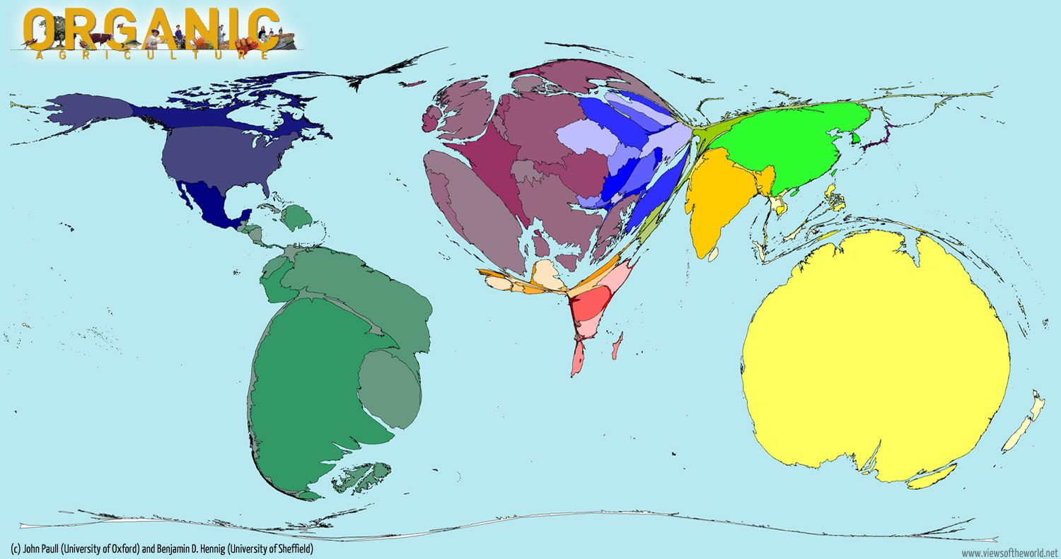 A world map of organic agriculture note australia which appears a world map of organic agriculture note australia which appears especially bloated which reflects sciox Gallery