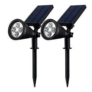 Lumiere Solaire Jardin double eclairage exterieur led] mpow lampe solaire jardin ip65