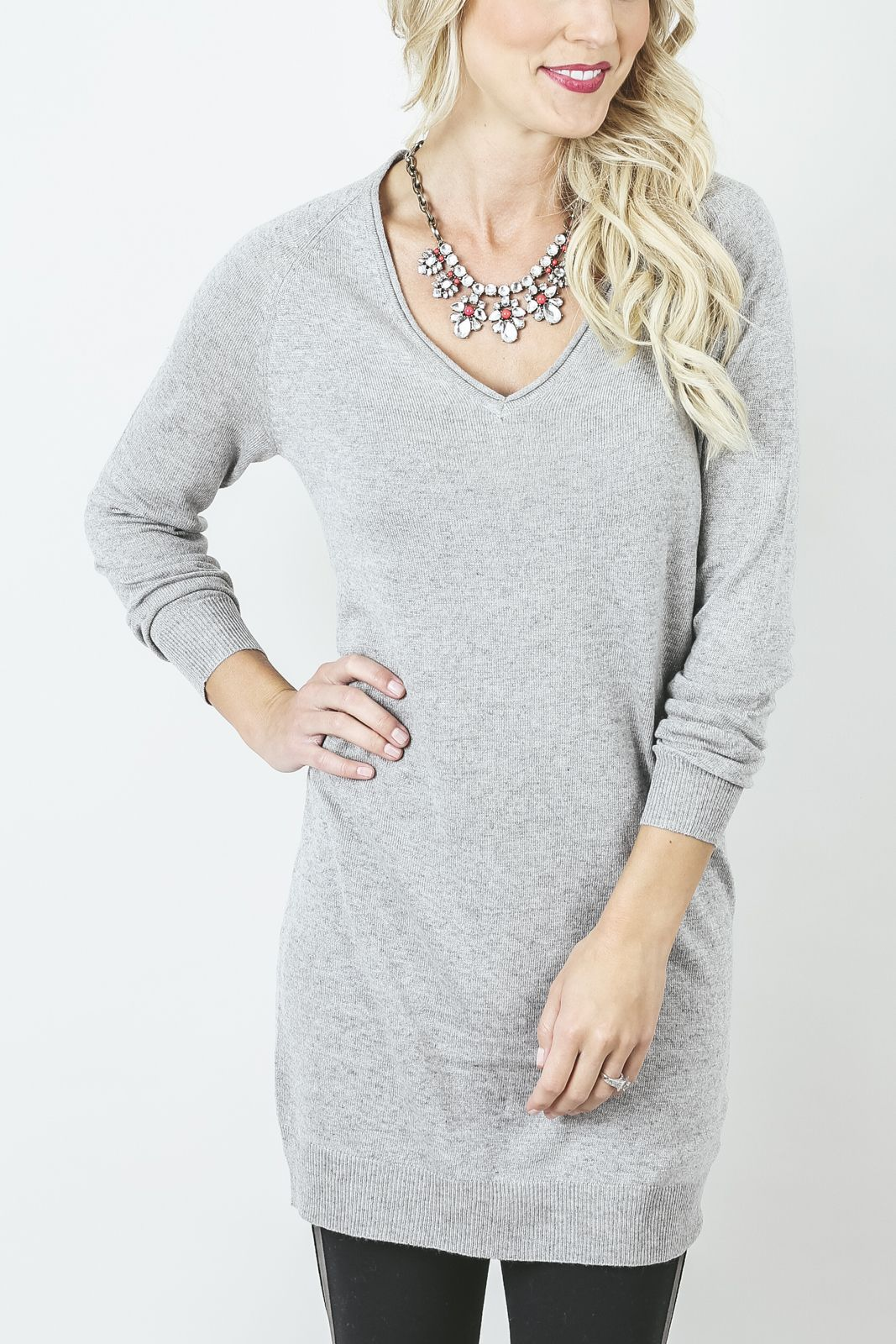 Vneck Tunic Sweater | My Style | Pinterest | Tunic sweater, Tunics ...
