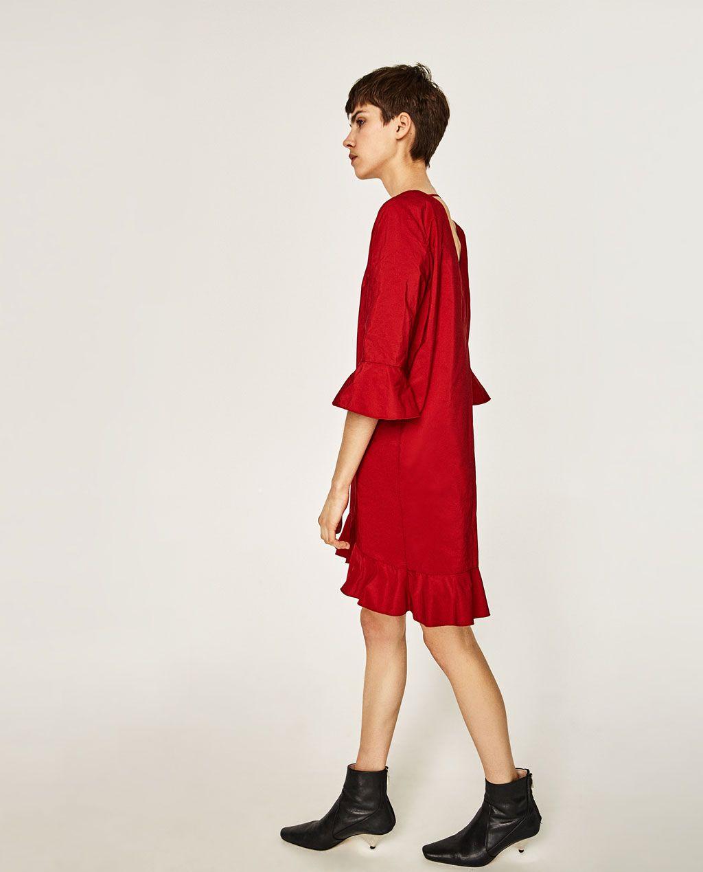 Imagine din rochie cu volĂnaŞ de pe zara shopping pinterest