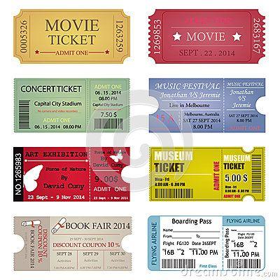 movie ticket design - Google Search Startup_GM Pinterest