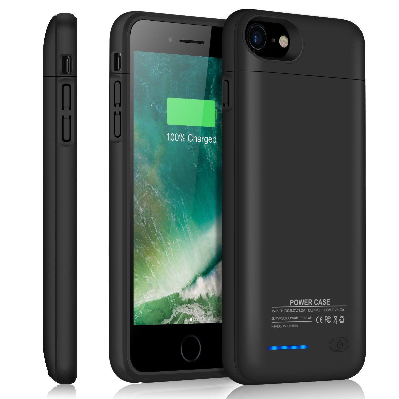 brand new ebb21 f49f3 Iphone 7 Battery Case/Iphone 8 Battery Case/JUBOTY 3000mAh External ...