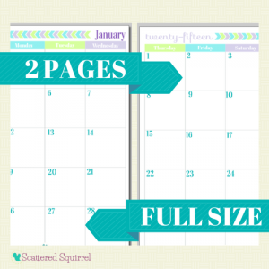 printable monthly calendars 2015 free