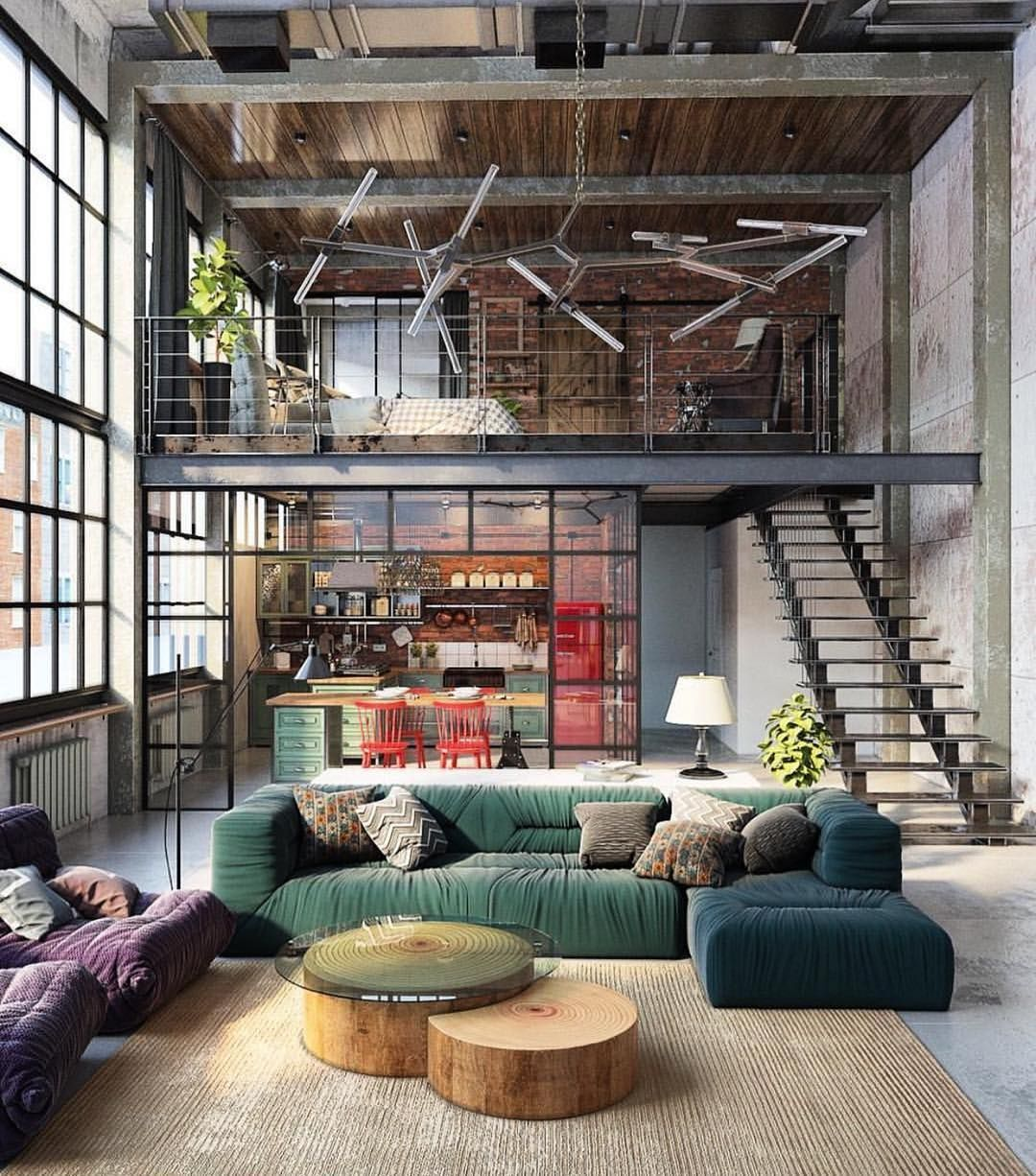 Loft goals. Tag someone who would wasn\'t to live here | The Stylish ...