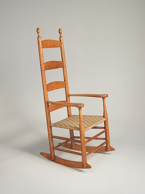 Previously reserved for the elderly and infirm, rocking chairs became  ubiquitous in America after the Revolution. The Shakers produced slat-back  rocking ... - This Is An American Shaker Rocking Chair That Was Created Between