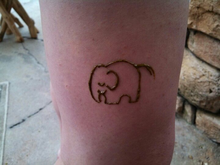 This Little Guy Is Just Cute Elephant Henna Henna I Ve Done