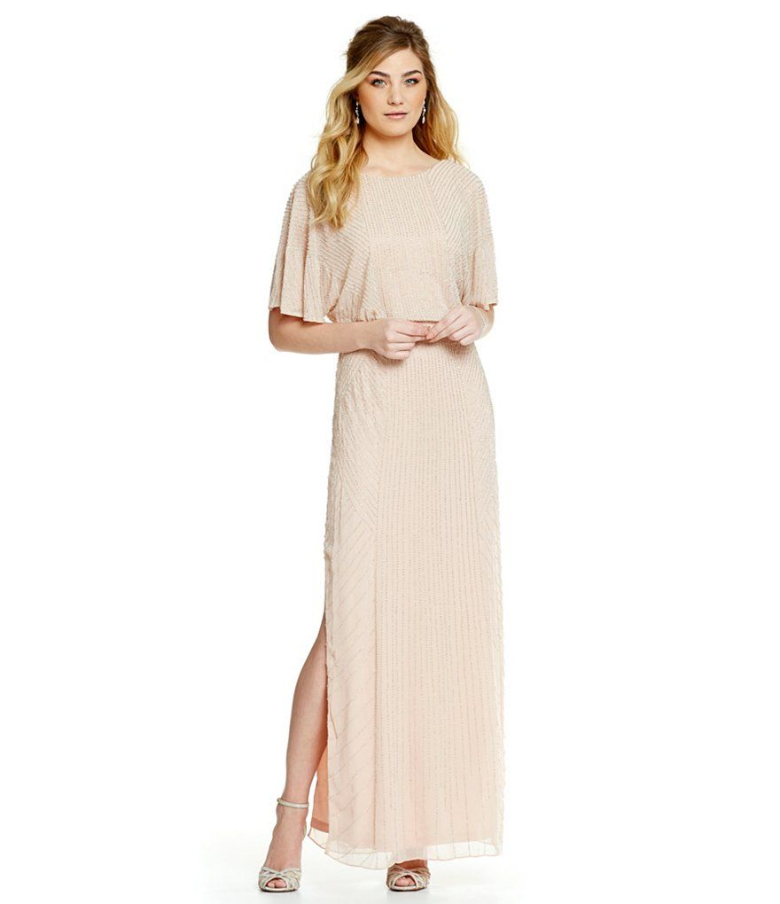Aidan mattox beaded blouson gown mother of bride dresses