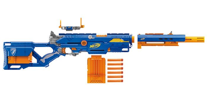 Amazon.com: Nerf N-Strike Longstrike CS-6 Dart Blaster (Discontinued by  manufacturer): Toys & Games