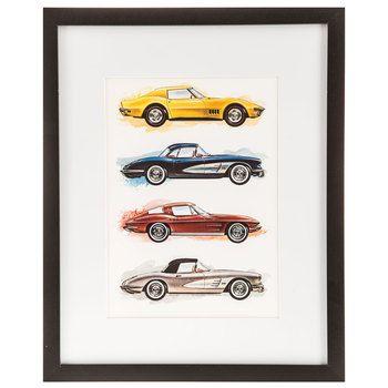 Corvette Cars Framed Gallery Wall Art Hobby Lobby Wall Art Car Wall Art Gallery Wall Frames