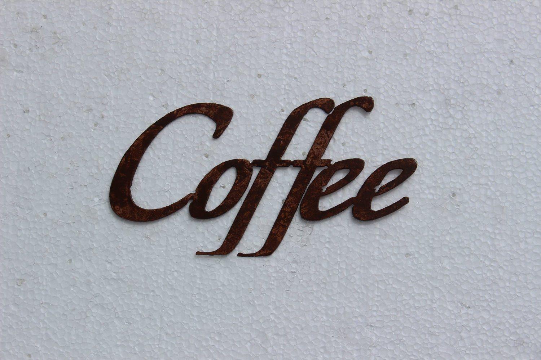Coffee Word Sign - Kitchen Decor Metal Wall Art   Metal wall art ...