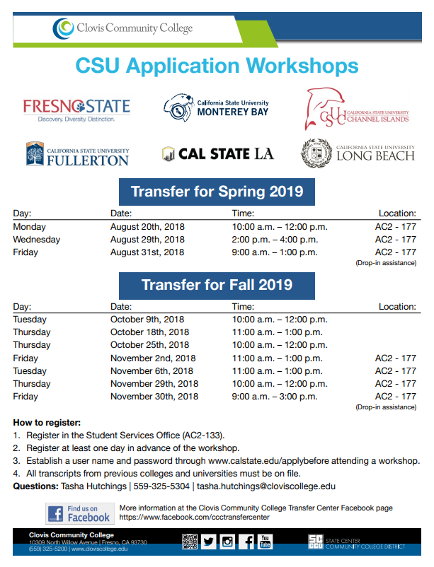 Transferring To Fresno State Or Any Other Cal State In Spring 2019