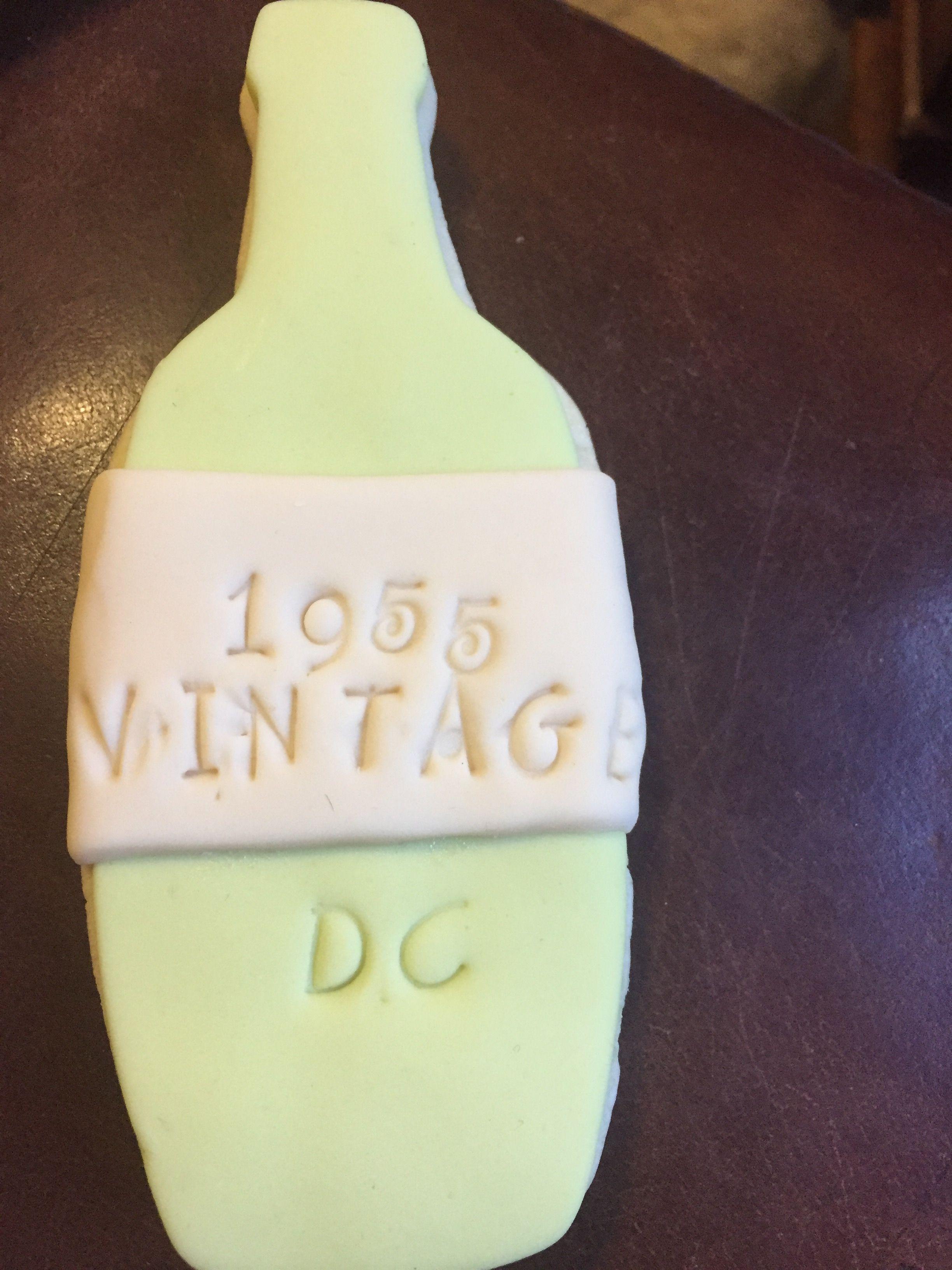 Fondant Cookie Wine Bottle