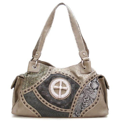 Cross Croc Grey Black Ostrich Patchwork Pockets Rhinestone Satchel L Bag Handbag Silverake allofpurses -Silverake http://www.amazon.com/dp/B008Y6SM9S/ref=cm_sw_r_pi_dp_QfkBwb02P1K3J