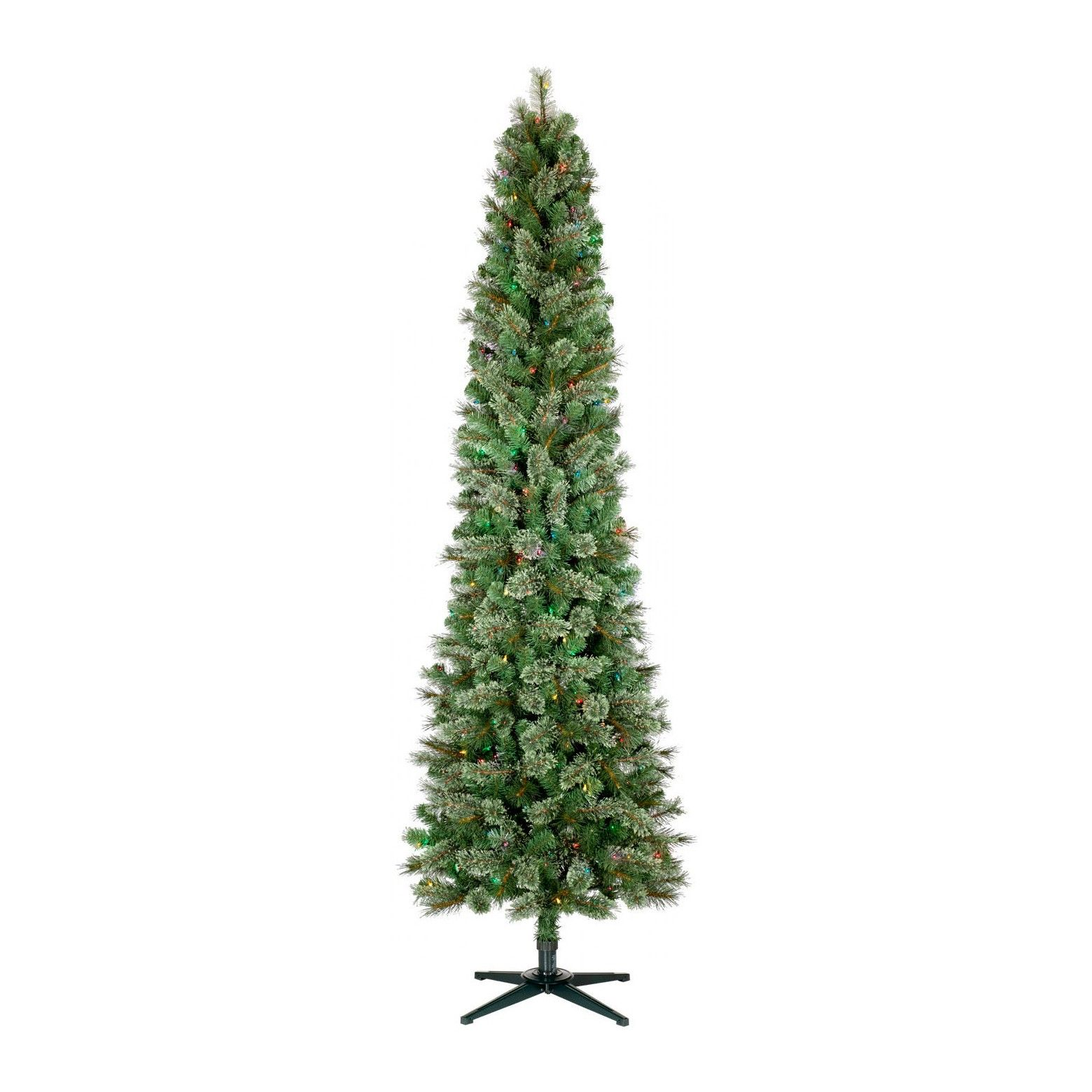 7.5ft Prelit Artificial Christmas Tree Pencil Virginia Pine ...