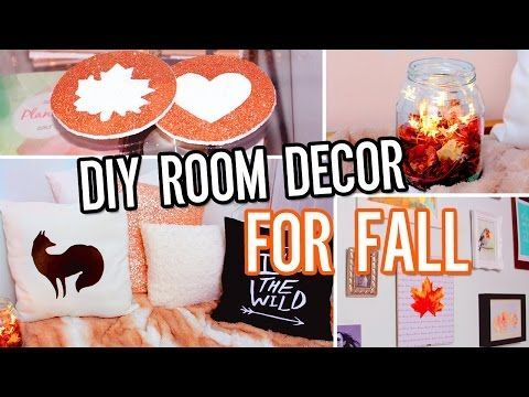 DIY Room Decor For Fall! Make Your Room Cozy No-Sew Pillow, Tumblr - how to make halloween decorations youtube