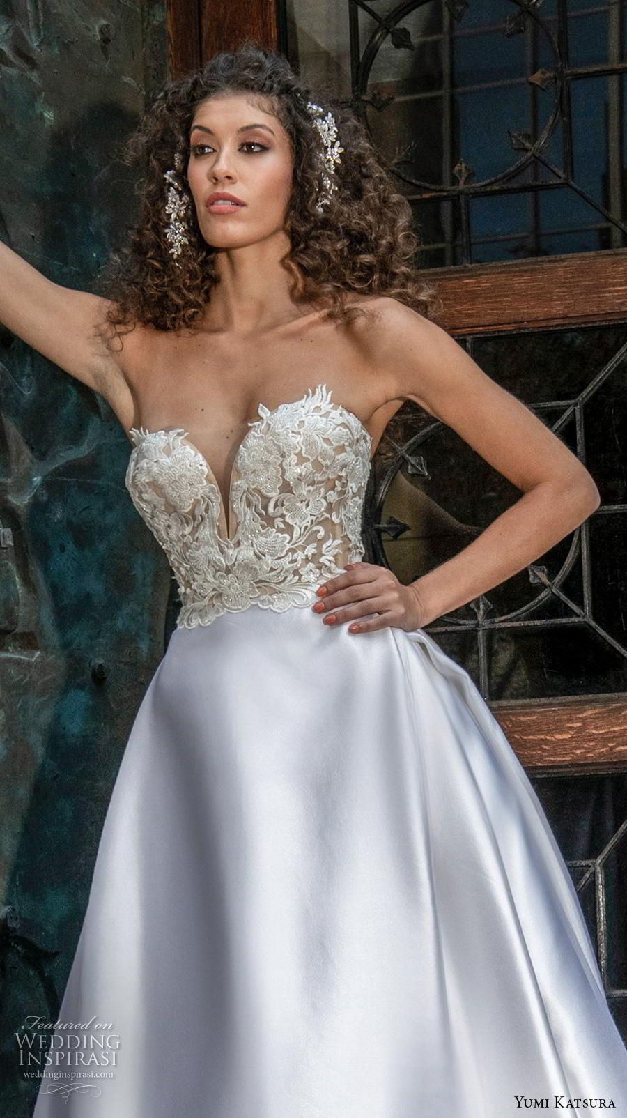 Yumi Katsura Buttercream/Nude Felicity Sexy Wedding Dress