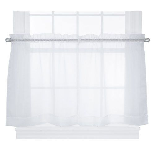 Jessica Sheer 54 X 36-Inch Tailored Tier Curtains