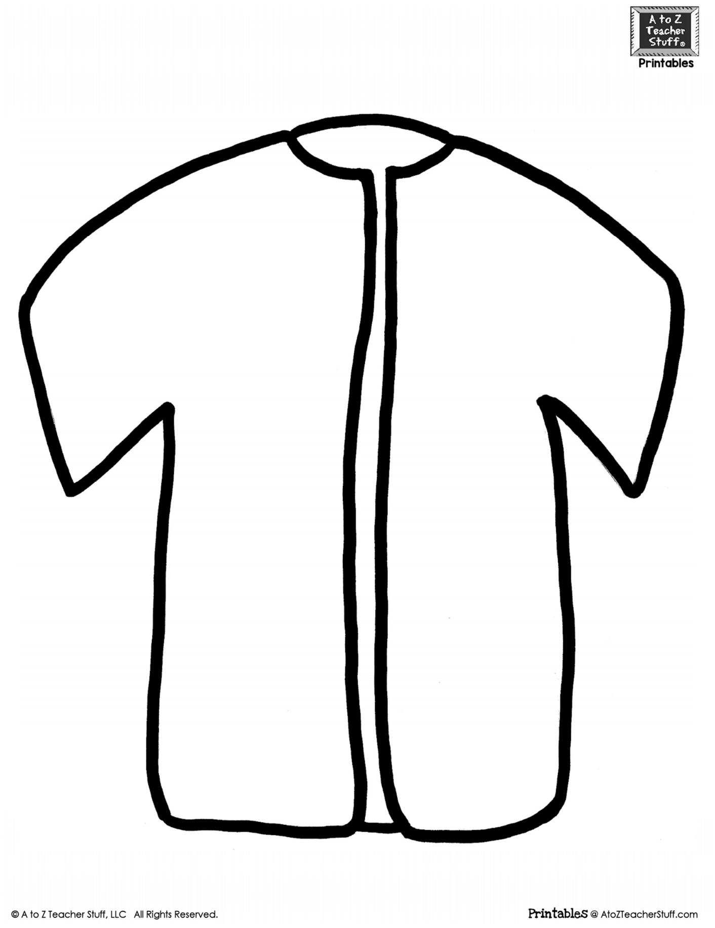 Shirt Or Jacket Outline Printable Pattern