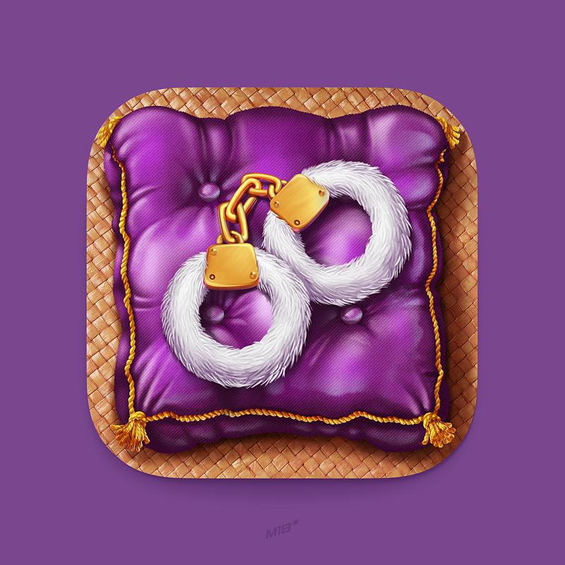 Wonderfull app icon purple Big_size Ios icon, Icon