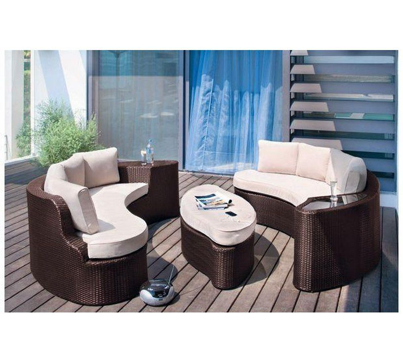 Argos Rattan Garden Table And Chairs: Home 6 Seater Rattan Effect Sofa Set - Brown