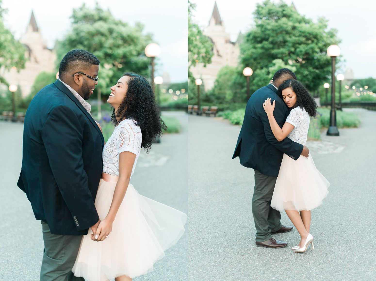 Jamaican couple engagement session at Fairmont Chateau Laurier in ...