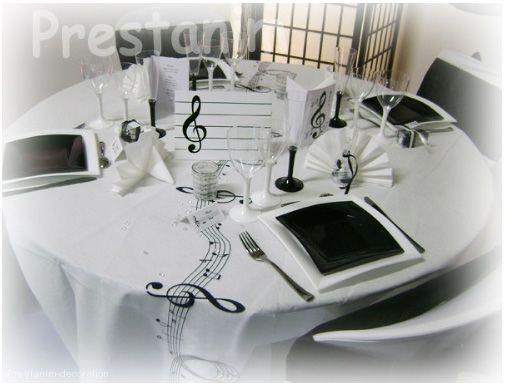 decorations table mariage musique noir blanc weddings music theme pinterest musique. Black Bedroom Furniture Sets. Home Design Ideas