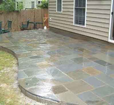 Flagstone Patio (Stone Work By Professional Stone Work, Silver Spring .