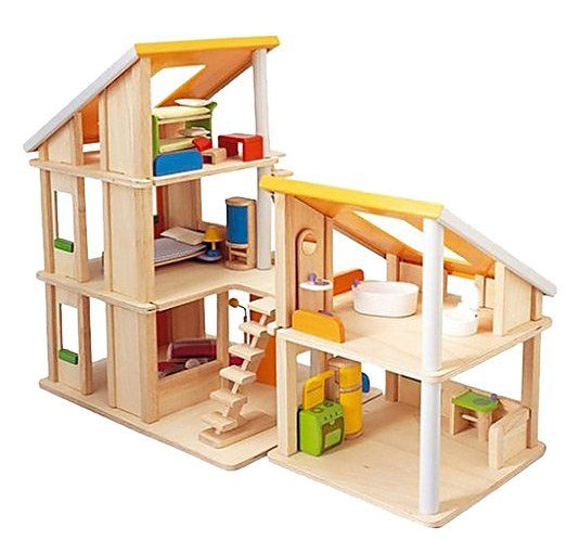 PlanToys Chalet Dollhouse With Furniture - Free Shipping